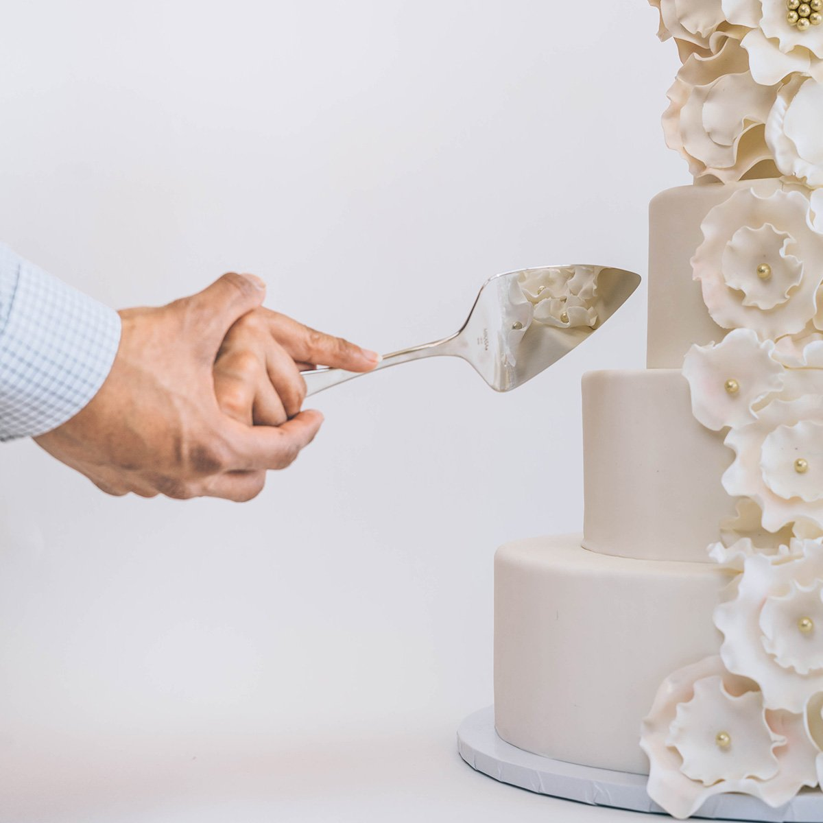 Bride Cutting Cake