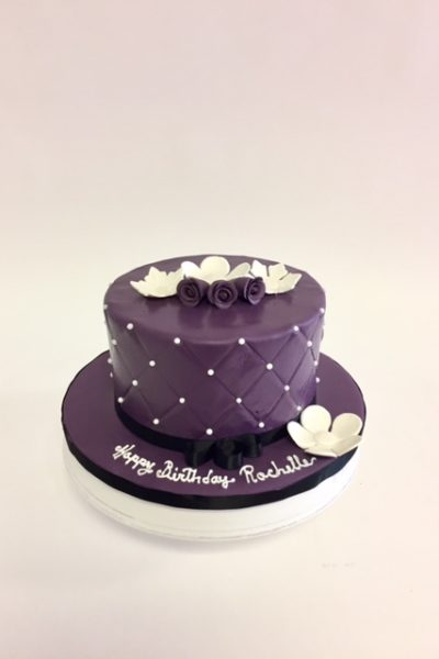 Woman Birthday Cake Creme Rosettes Forever Loved