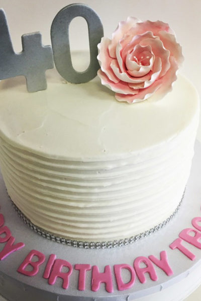 Pretty In Pink Woman Birthday Cake 40th Blooms