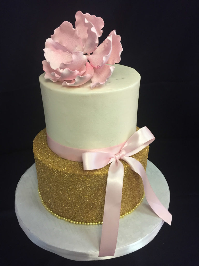 Woman Birthday Cake Blush And Glitz