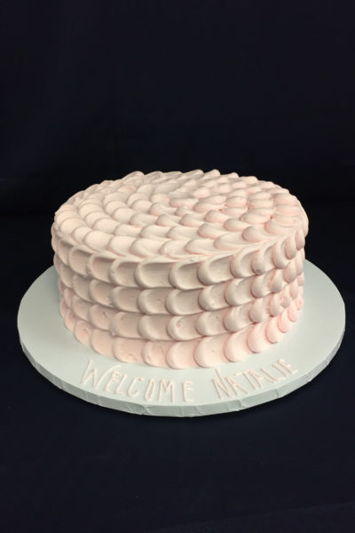 Woman Birthday Cake Blushing Clouds