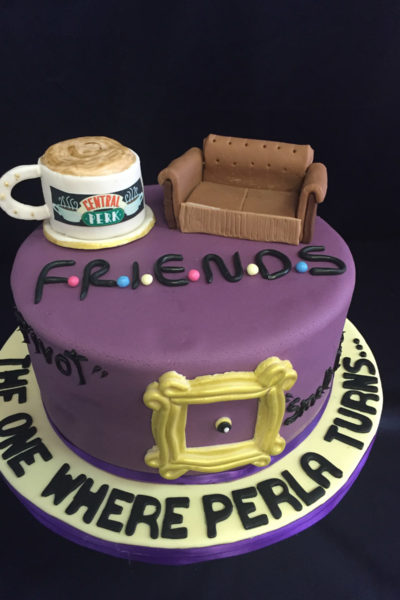 Woman Birthday Cake Central Perk