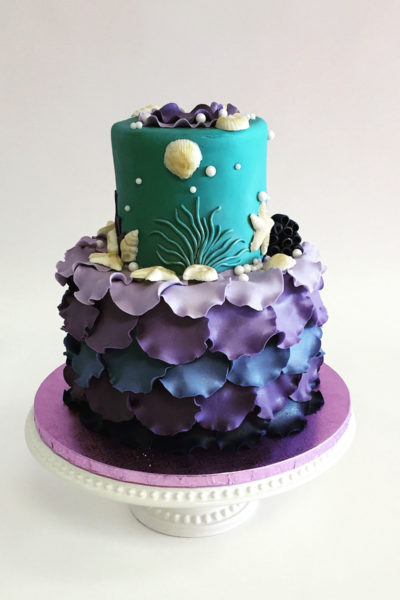 Girl Birthday Cake Chic Little Mermaid