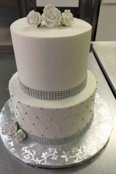 Woman Birthday Cake Elegant Rhinestone