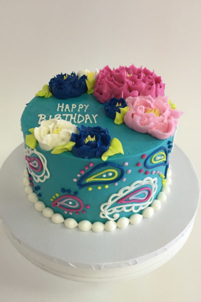 Woman Birthday Cake Lovely Peonies