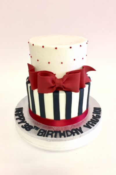 Woman Birthday Cake Dazzling Lush Red