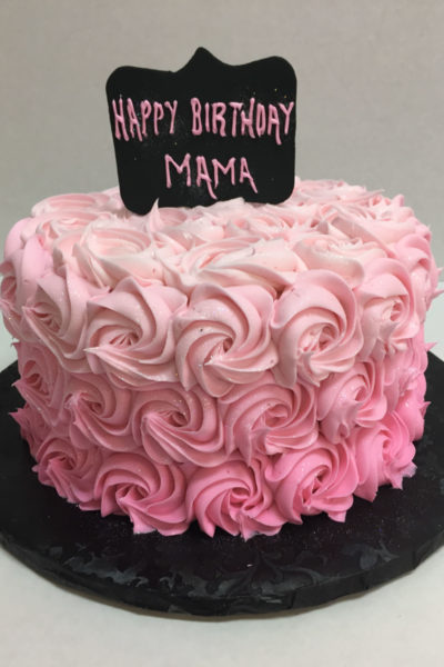 Woman Birthday Cake Ombre Rosettes