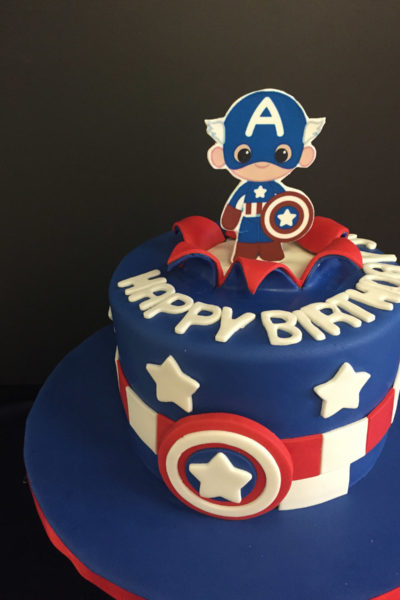 Boy Birthday Cake Tiny Avengers