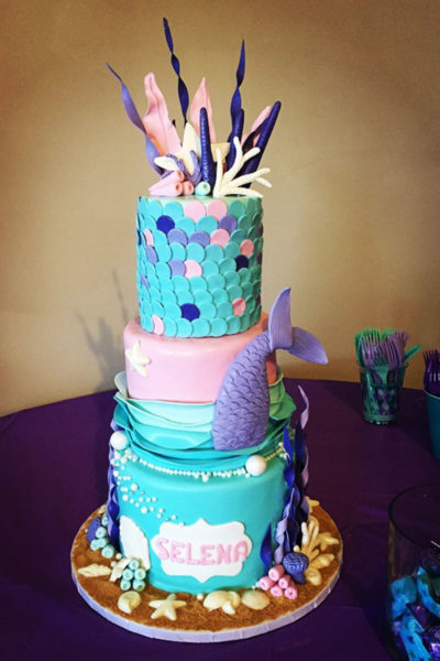 Girl Birthday Cake Under The Sea