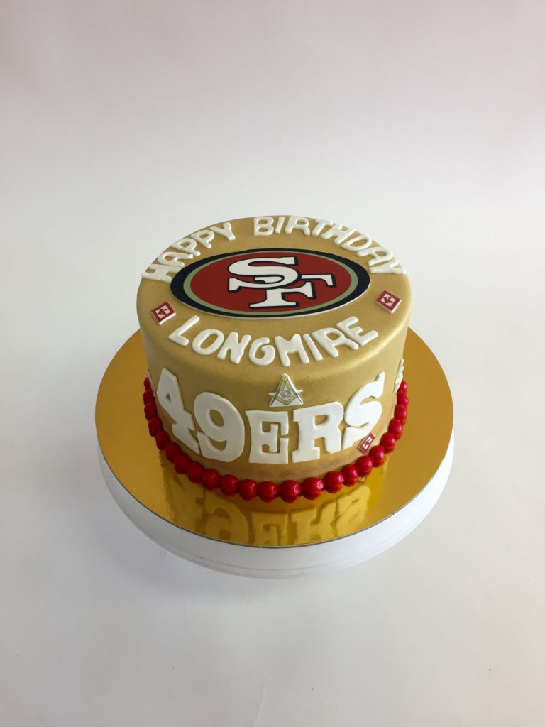 Peachy San Francisco 49Ers Nancys Cake Designs Funny Birthday Cards Online Overcheapnameinfo