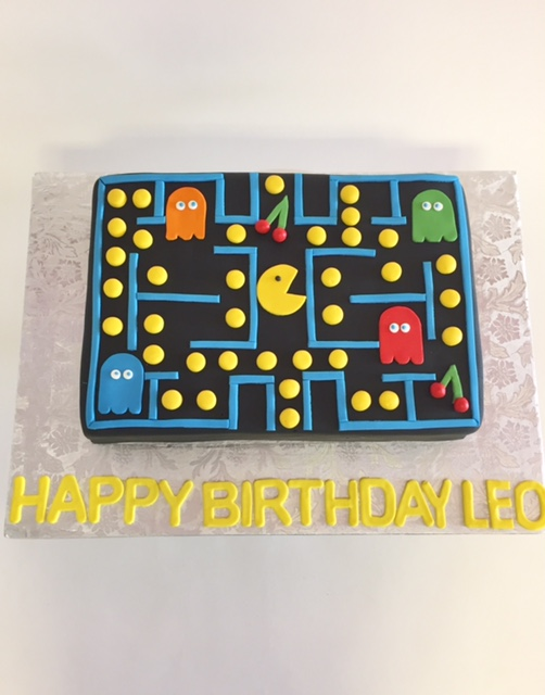 Tremendous Pac Man Brithday Nancys Cake Designs Funny Birthday Cards Online Alyptdamsfinfo