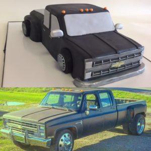 Nancys Cake Designs Girls Birthday Cakes Chevy Truck