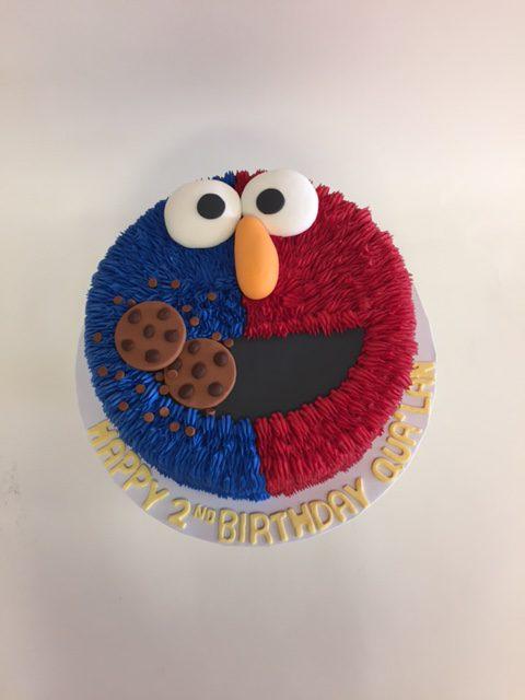 Super Cookie Monster Elmo Nancys Cake Designs Funny Birthday Cards Online Inifodamsfinfo
