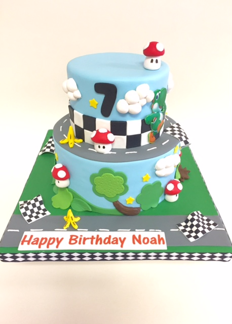 Astonishing Mario Kart Nancys Cake Designs Personalised Birthday Cards Sponlily Jamesorg